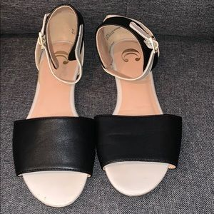 Brand New Flats with ankle straps